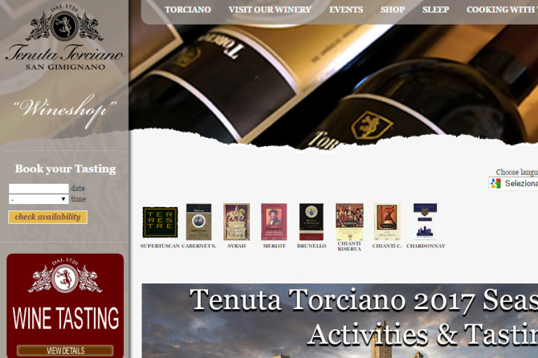 New Website for Torciano Winery