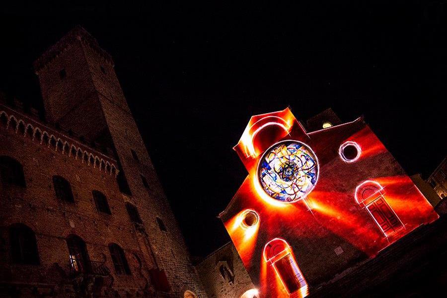 Lights on San Gimignano