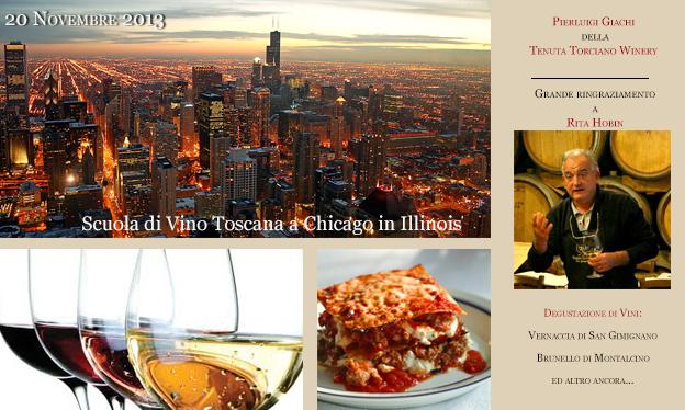 Lezioni di Vino Toscano a Chicago il 20 Novembre 2013