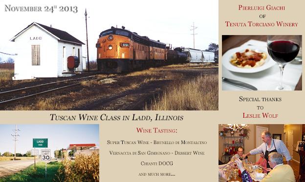 Lezioni di Vino a Ladd in Illinois il 24 Novembre 2013