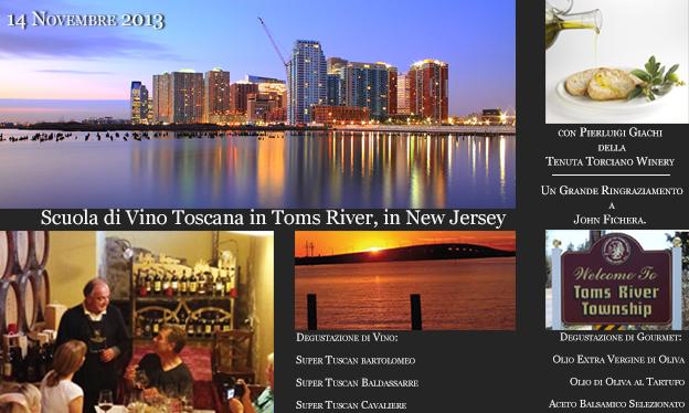 Lezioni di Vino Toscano a Toms River, New Jersey il 14 Novembre 2013