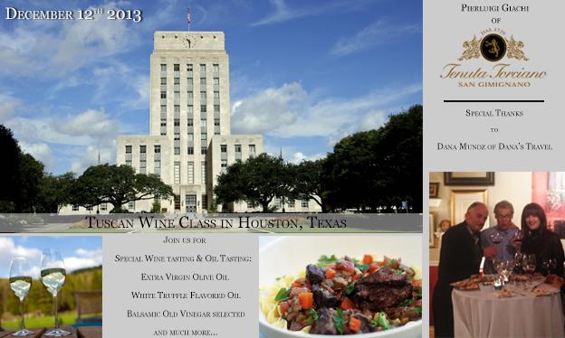 Scuola di Vino Toscano a Houston il 12 Dicembre 2013