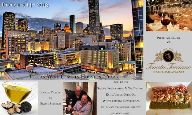 Lezioni di Vino Toscano a Houston il 14 Dicembre 2013