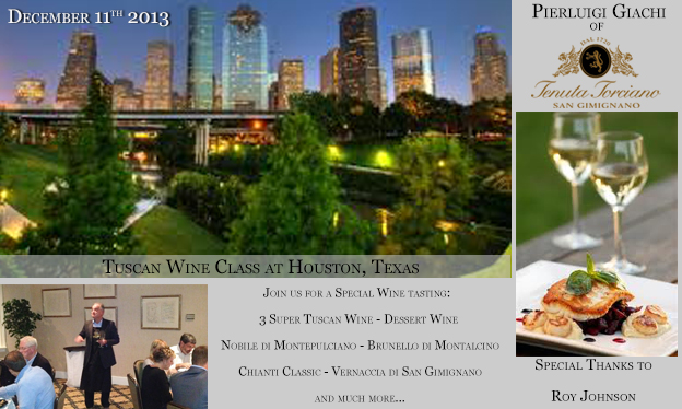 Scuola di Vino Toscano a Houston 11 Dicembre 2013