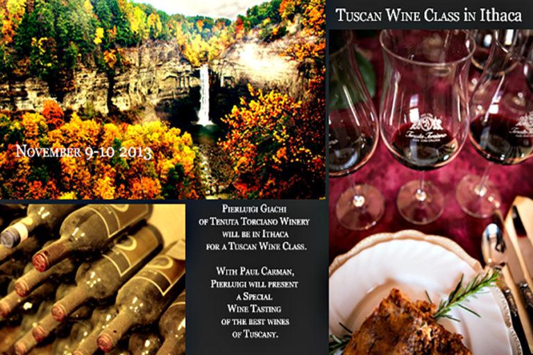 Lezioni di Vino Toscano a Ithaca il 9 e 10 Novembre 2013