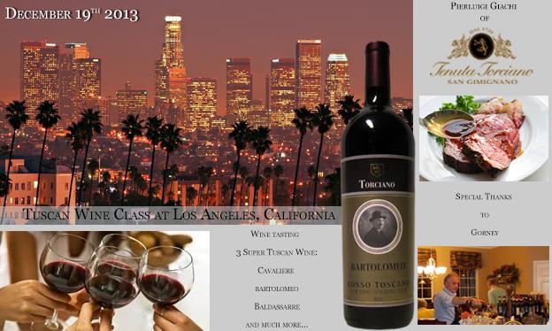 19 Dicembre – Lezioni di Vino Toscano a Los Angeles