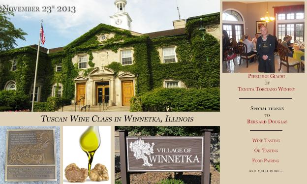 Wine Class Tour on 23rd of November 2013 at Winnetka, Illinois
