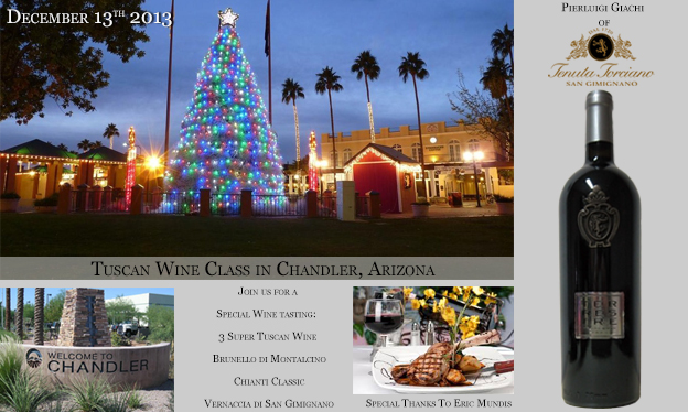 Wine Class Tour at Chandler in Arizona on December 13th 2013