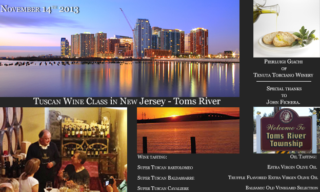 Wine Class Tour – November 14 2013 at Toms River, New Jersey