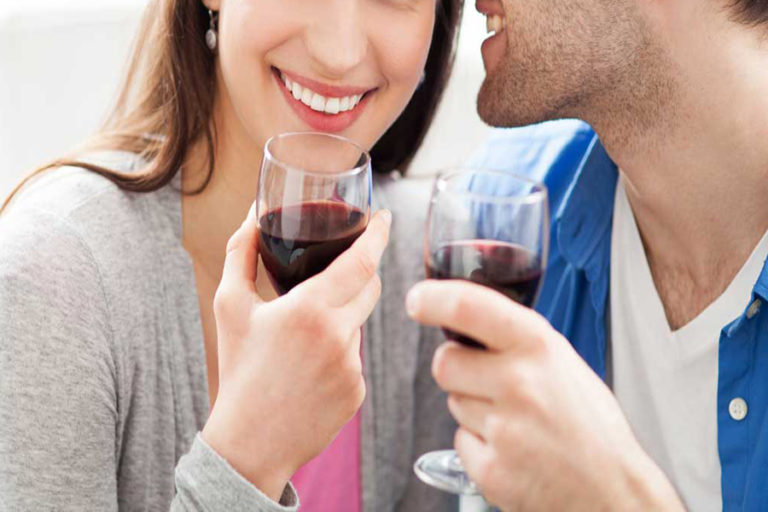 "5 ways to say ""I love you"" with a glass of wine"