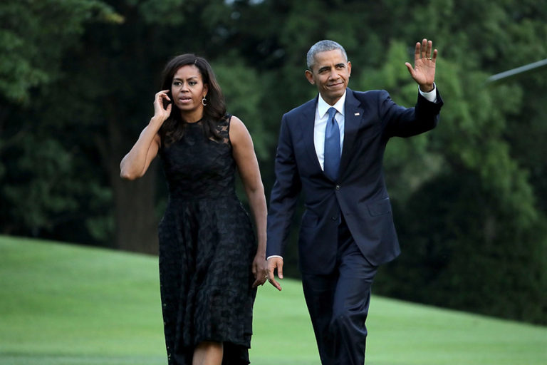 Barack Obama and Michelle in Italy on 27th of March 2014