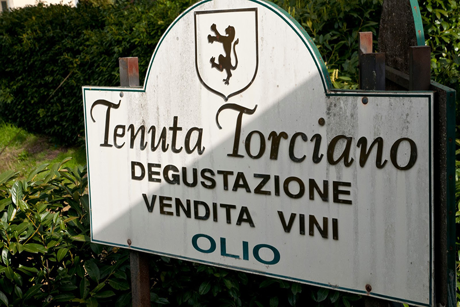 Wine tasting at Torciano Winery