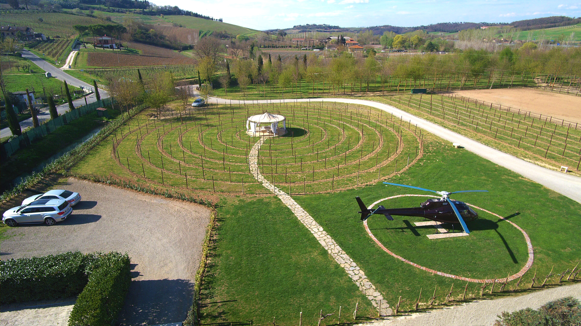 The winery in Tuscany, a return to nature