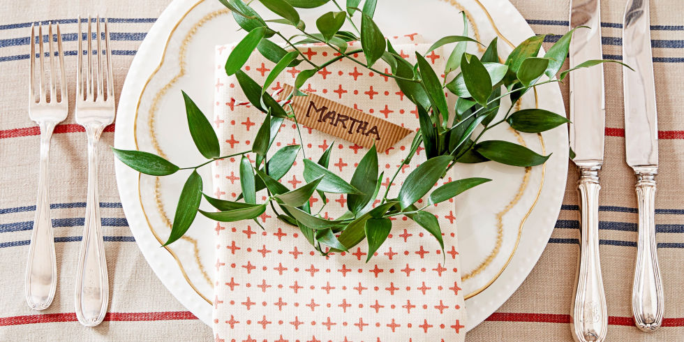 landscape  holiday table setting