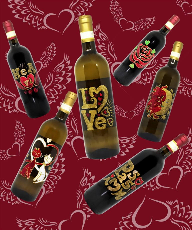 For Valentine's Day, give our wine with love