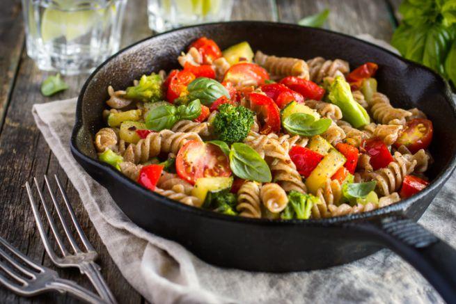 pasta integrale con verdure