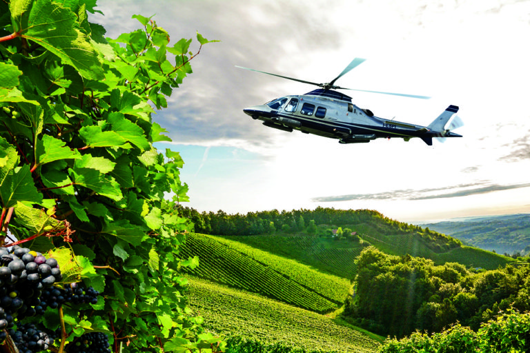 Visit Tenuta Torciano Winery by Helicopter!