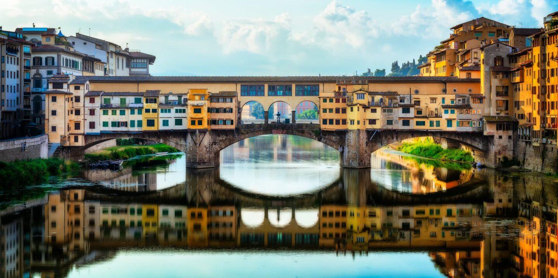 Ponte Vecchio Florence Italy Arno river daylight