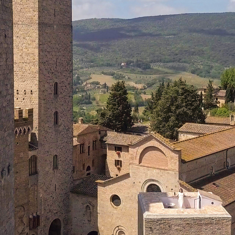 Rooftop terrace in the Castle